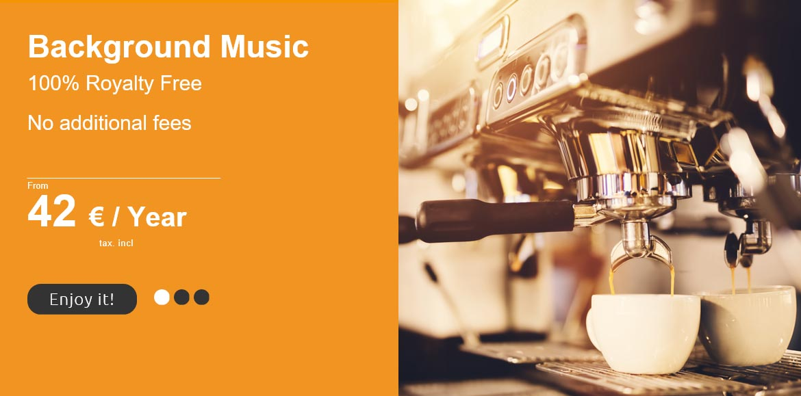 royalty free background music for Cafes and Coffee Shops