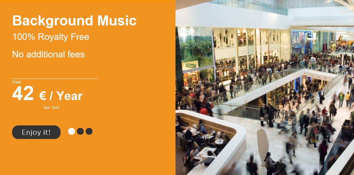 royalty free background music for shopping centres
