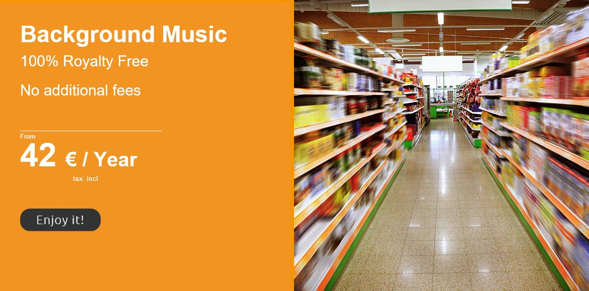 royalty free background music for supermarkets